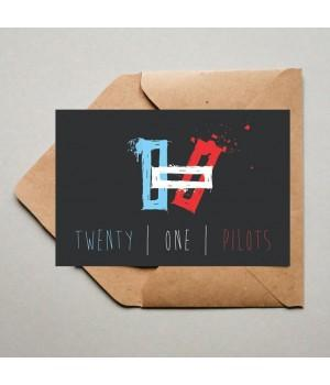 """Открытка """"Twenty One Pilots"""""""