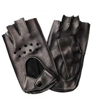 """Перчатки без пальцев кожаные женские """"Accent"""" черные (250)"""