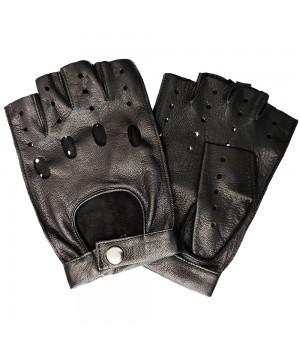 """Перчатки без пальцев кожаные мужские """"Accent"""" черные (31б)"""