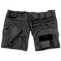 """Перчатки без пальцев кожаные мужские """"First"""" черные"""