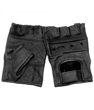 """Перчатки без пальцев кожаные мужские """"First"""""""