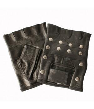 """Перчатки без пальцев кожаные мужские """"Sulehri"""" с клепками"""