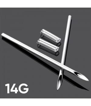 Игла для пирсинга 14G  (1.6 мм)
