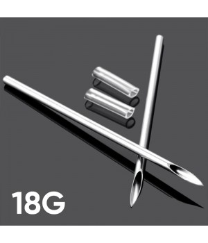 Игла для пирсинга 18G (1.0 мм)