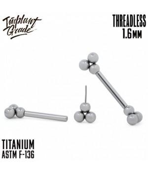 "Штанга для груди 1,6 мм Trinity безрезьбовая ""Implant Grade"" из титана"