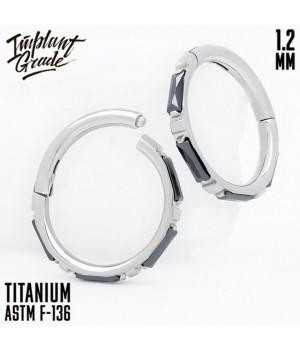 """Кольцо-кликер Eveline Black """"Implant Grade"""" 1.2 мм титан"""