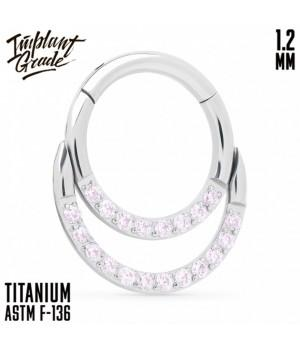 "Кольцо-кликер Duo Pink ""Implant Grade"" 1.2 мм титан"
