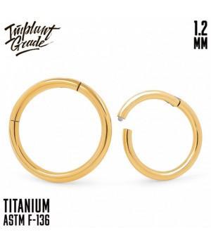 "Кольцо-кликер Gold ""Implant Grade"" 1.2 мм титан + PVD"