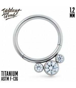"""Кольцо-кликер Dawn """"Implant Grade"""" 1.2 мм титан"""