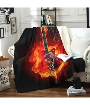 "Плед ""Гитара в огне"""