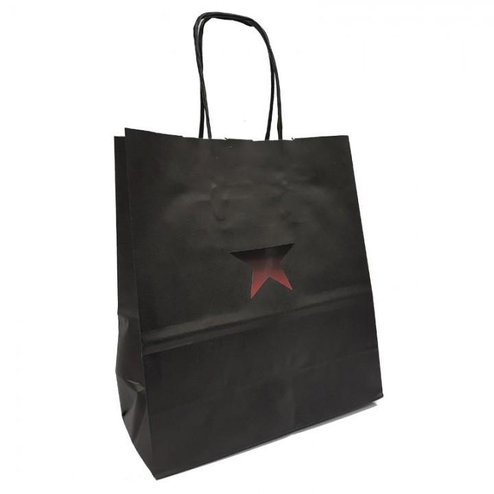 """Пакет бумажный подарочный """"Бастион"""" (18х20х8 см) (7033)"""