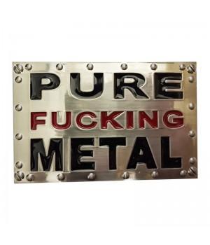 "Пряжка ""Pure Fucking Metal"""