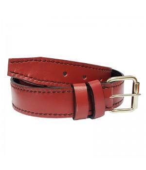 Ремень кожаный красный (3,5 см)