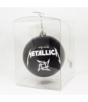 """Шар пластиковый """"Metallica"""" (8 см)"""