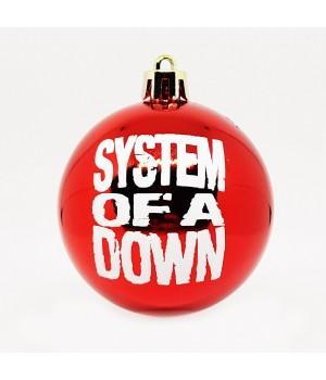 """Шар пластиковый """"System Of A down"""" (6 см)"""