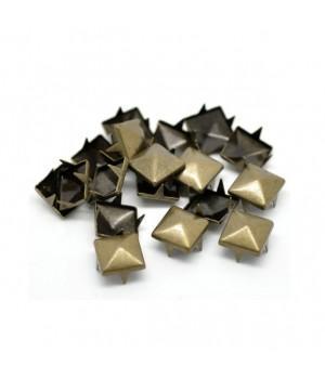 Заклепка квадратная бронзовая 12 мм
