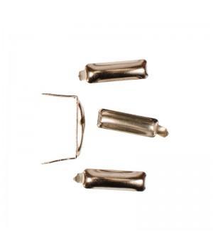 Заклепка прямоугольная серебристая 20х5 мм