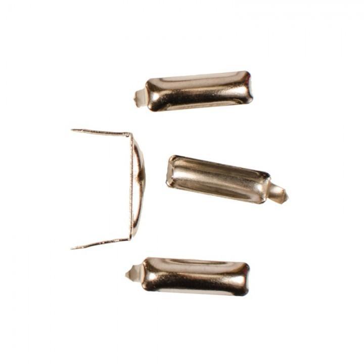 Заклепка прямоугольная серебристая 20х5 мм (4724)