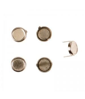 Заклепка круглая серебристая 12 мм плоская