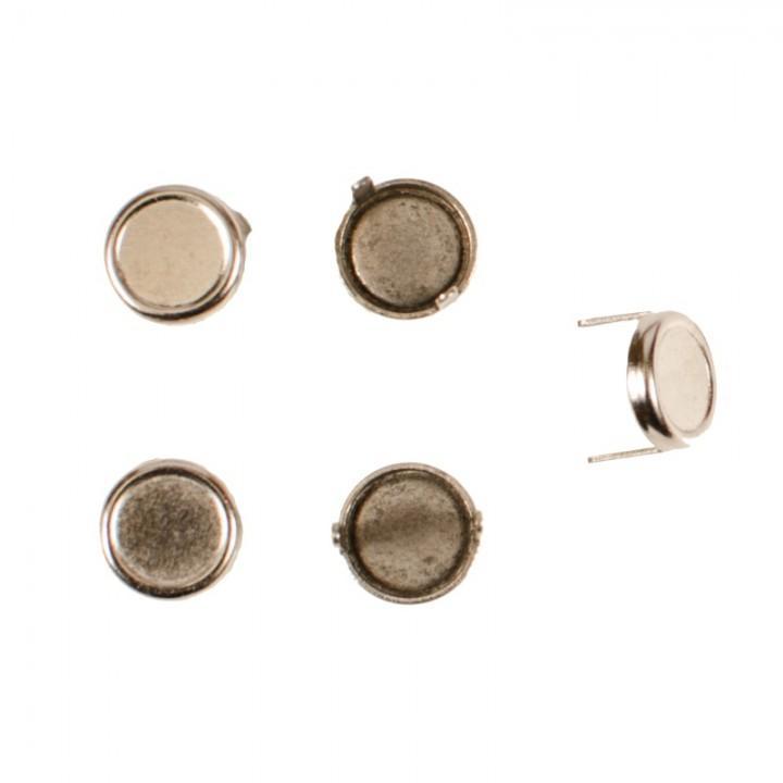 Заклепка круглая серебристая 12 мм плоская (7085)