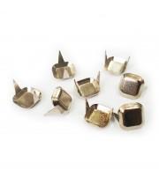 Заклепка квадратная серебристая 10 мм