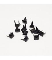 Заклепка квадратная черная 6 мм пирамида