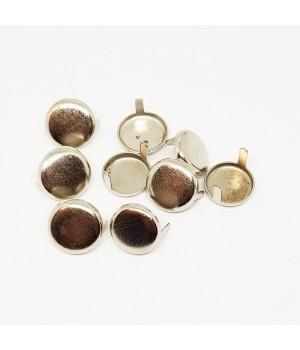 Заклепка круглая серебристая 15 мм плоская