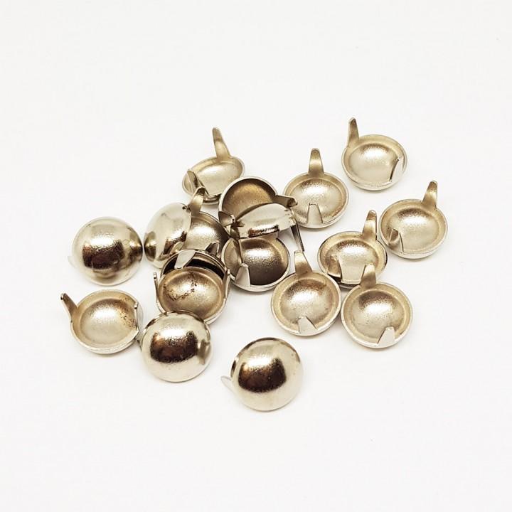 Заклепка круглая серебристая 12 мм полусфера (10368)