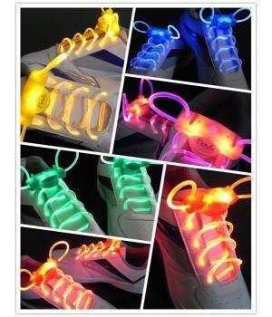Светящиеся шнурки силиконовые для обуви (LED)