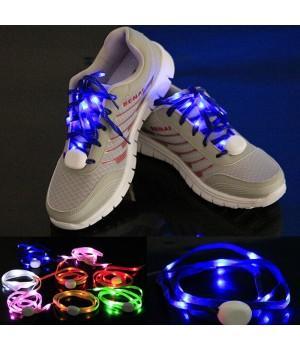 Светящиеся шнурки текстильные для обуви (LED)