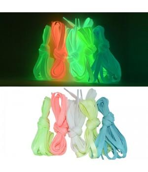 Светящиеся шнурки текстильные для обуви (Фосфорные)