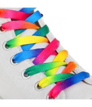 Радужные шнурки для кроссовок и кед