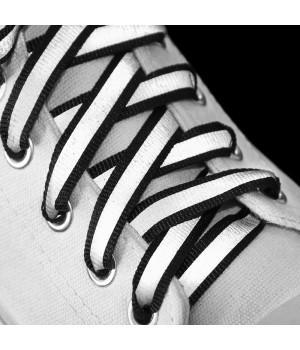 """Светоотражающие шнурки для обуви """"Черные 10 мм"""""""