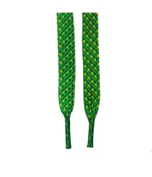 """Шнурки для кроссовок и кед """"Зелено-желтые 8 мм"""" (1,5 м)"""