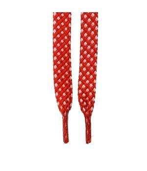 """Шнурки для кроссовок и кед """"Красно-белые 8 мм"""""""