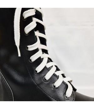 """Шнурки для кроссовок и кед """"Белые плоские 8 мм - 1.5 м"""""""