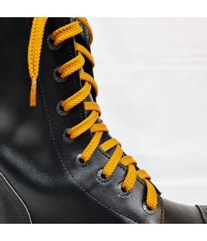 """Шнурки для кроссовок и кед """"Горчичные плоские 8 мм - 1.5 м"""""""
