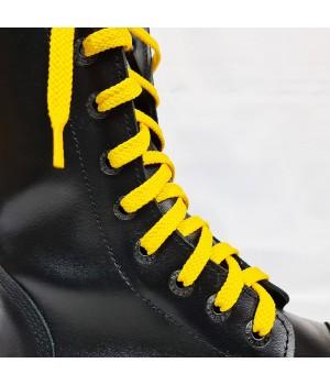 """Шнурки для кроссовок и кед """"Желтые плоские 8 мм - 0.8-1.5 м"""""""