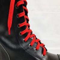 """Шнурки для кроссовок и кед """"Красные плоские 8 мм - 1.5 м"""""""