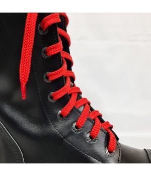 """Шнурки для кроссовок и кед """"Красные плоские 8 мм - 0.8-1.5 м"""""""