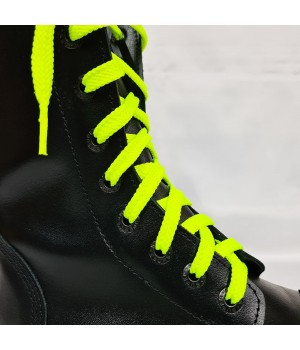 """Шнурки для кроссовок и кед """"Кислотно-желтые плоские 8 мм - 1.5 м"""""""
