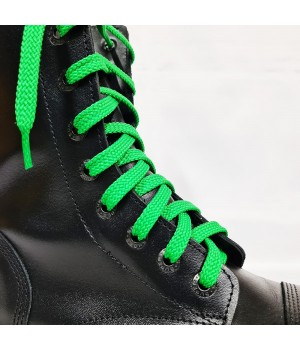 """Шнурки для кроссовок и кед """"Зеленые плоские 8 мм - 0.8-1.5 м"""""""