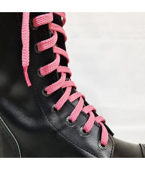 """Шнурки для кроссовок и кед """"Розовые плоские 8 мм - 0.8-1.5 м"""""""