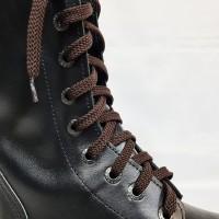 """Шнурки для кроссовок и кед """"Коричневые плоские 8 мм - 1.5 м"""""""
