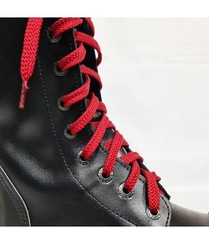 """Шнурки для кроссовок и кед """"Темно-вишневые плоские 8 мм - 0.8-1.5 м"""""""