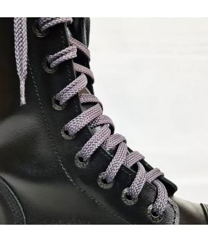 """Шнурки для кроссовок и кед """"Темно-серые плоские 8 мм - 1.5 м"""""""