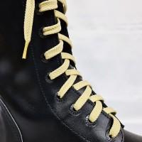 """Шнурки для кроссовок и кед """"Светло-бежевые плоские 8 мм - 1.5 м"""""""