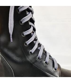 """Шнурки для кроссовок и кед """"Серые плоские 8 мм - 0.8-1.5 м"""""""