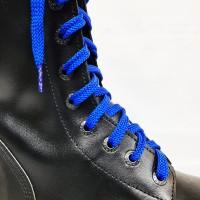 """Шнурки для кроссовок и кед """"Синие плоские 8 мм - 1.5 м"""""""