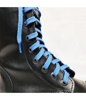 """Шнурки для кроссовок и кед """"Светло-синие плоские 8 мм - 1.5 м"""""""